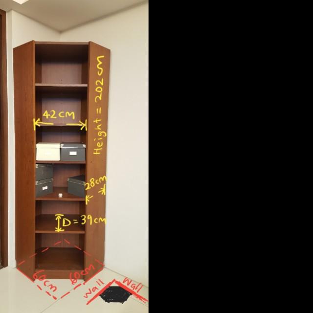 Ikea Billy Corner Bookcase Shelf Unit Brown Furniture Shelves Drawers On Carou