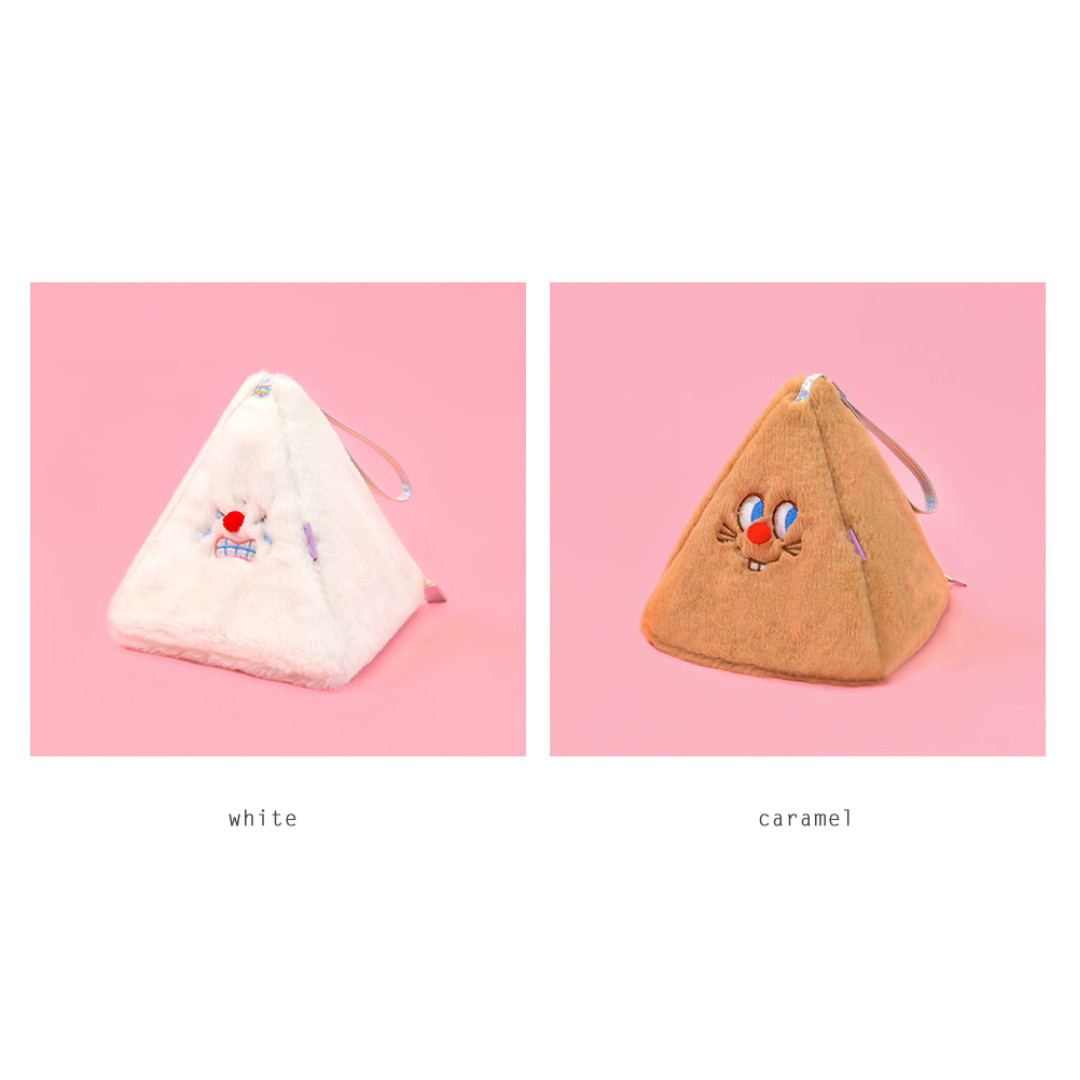 [Instock / PO] Red Nose Triangle Pouch By Bentoy