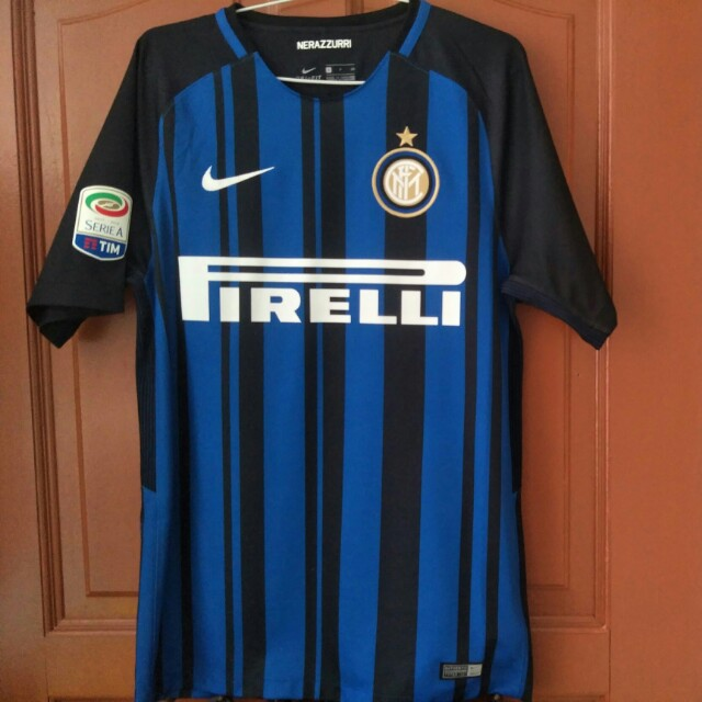 100% authentic 4f4e6 a3c17 Inter Milan Home Stadium Jersey 17/18 Printed With Mauro ...