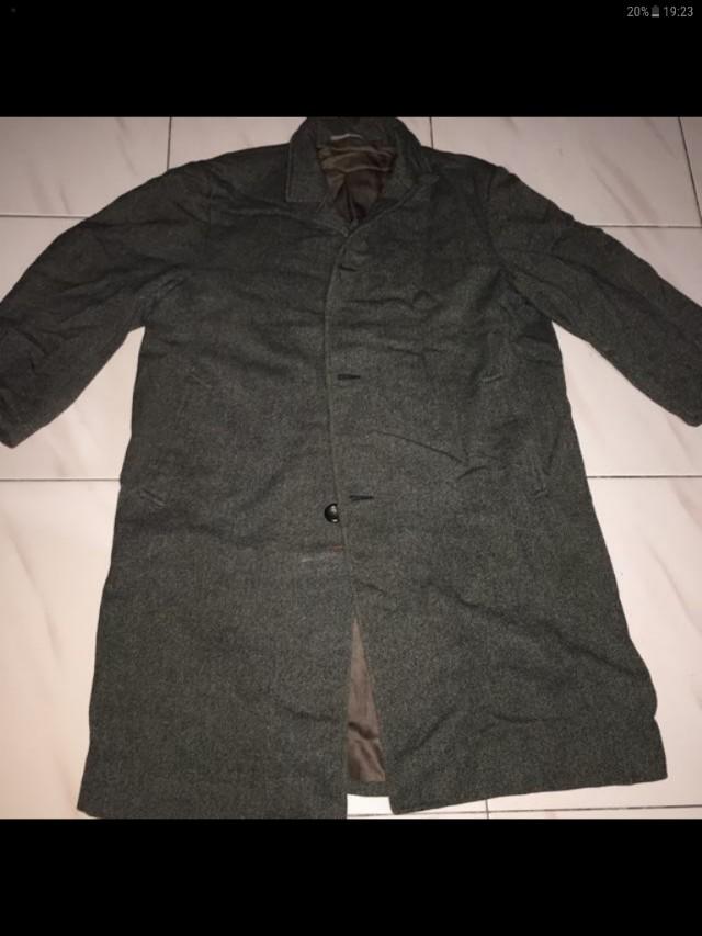 Jaket winter coat bahan wool size L