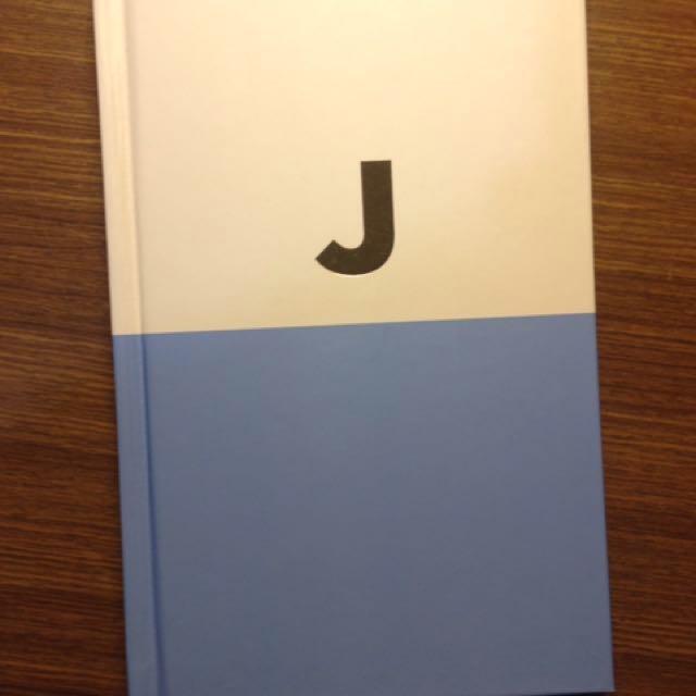 "Kate Spade Gold ""J"" Monogram Blue Notebook Hardcover"