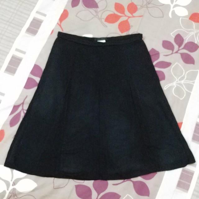 Korean Office Skirt - Black