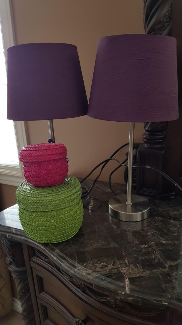 Lamps/ curtains/ wall shelfs/ baskets