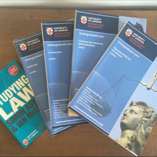 Law books set