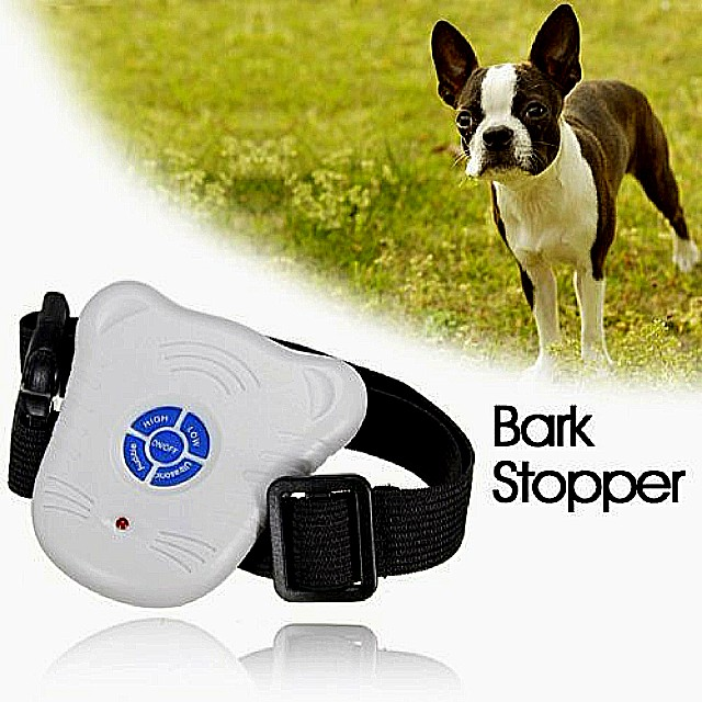 Light Weight Ultrasonic and Audible Control Bark Stop No-Bark Dog Collar Stop Barking Training Device for Dogs NEW