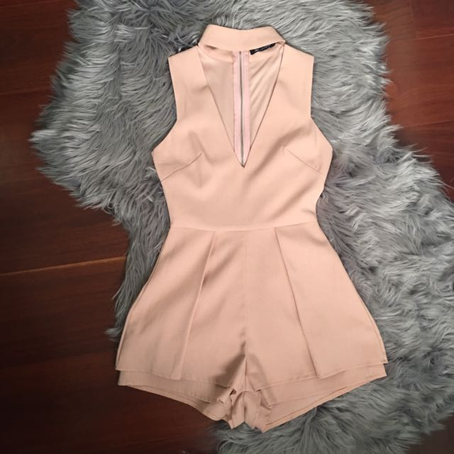 Luvalot Blush Choker Low Cut Playsuit Size 6