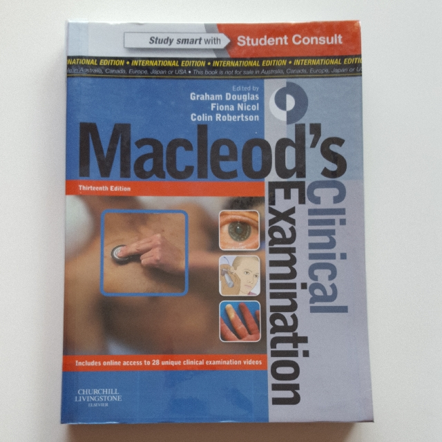 Macleods clinical examination textbook 13th edition books macleods clinical examination textbook 13th edition books stationery textbooks on carousell fandeluxe Gallery