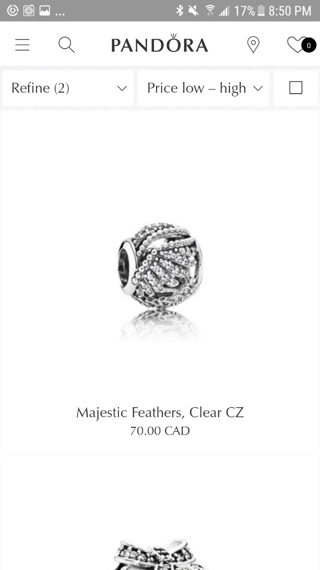 Majestic Feathers Charm