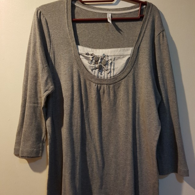 Marks and Spencer Gray top