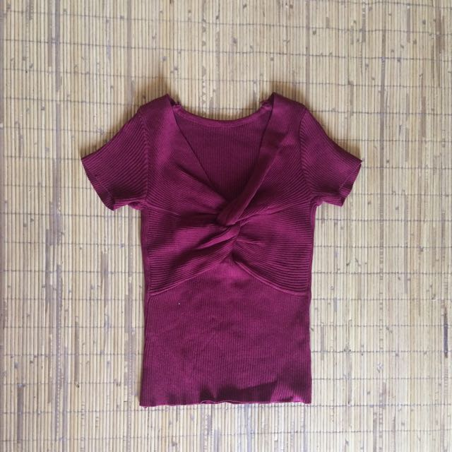 Maroon Knot Top