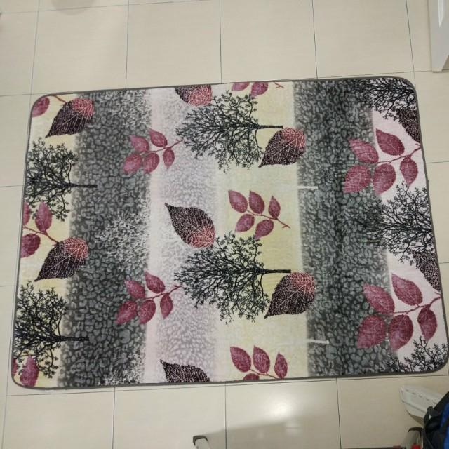 Mink Floral Carpet
