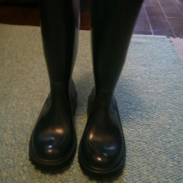 MJ 義大利製雨靴藍色37