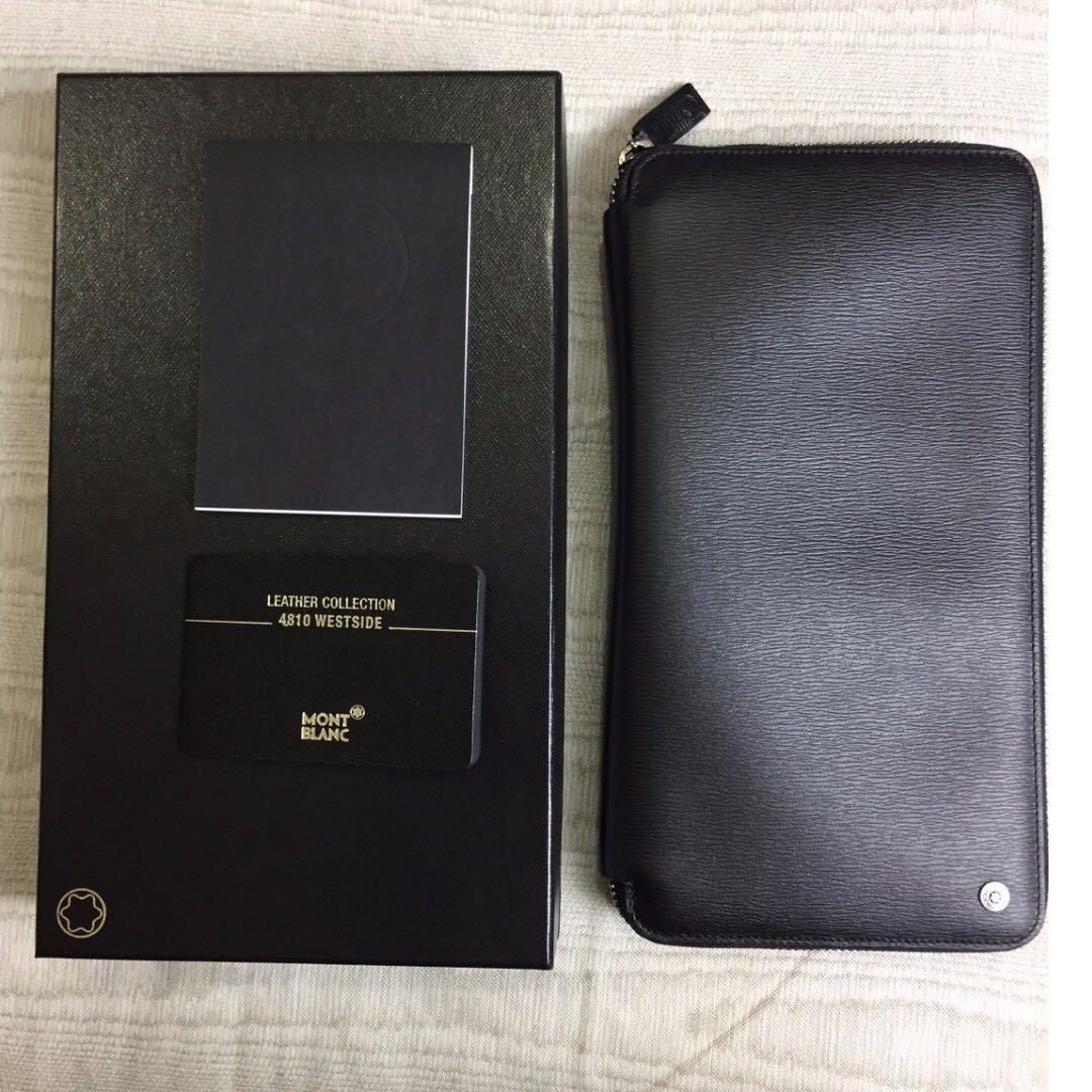 MONTBLANC 豪華型拉鍊旅行證件包(誠可議價)