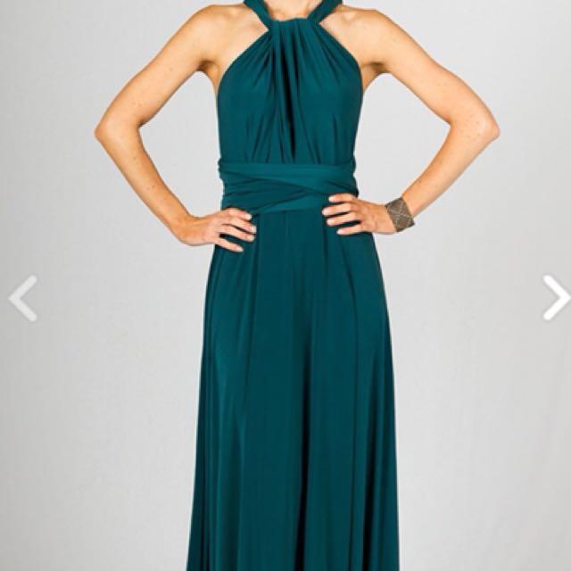 Multiway wrap dress Emerald