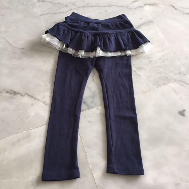 Navy Blue Skirt & Long Pants Tutu #blessing