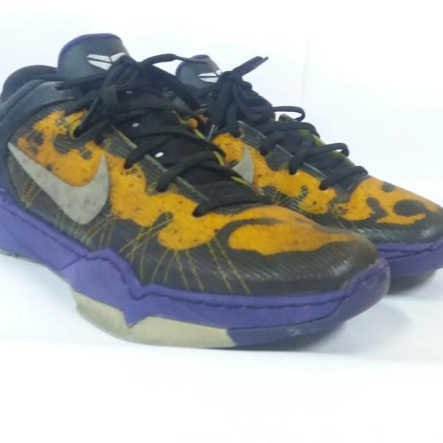 best website 204e1 76120 Nike Kobe 7 Court Purple Yellow Poison Dart Frog Wolf Grey Black Size 40  (25cm