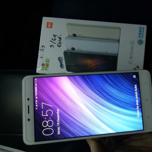 Note 4 /64 Giga Xiaumi,  Second Masih Mulus,  64 Giga,  Ram 3