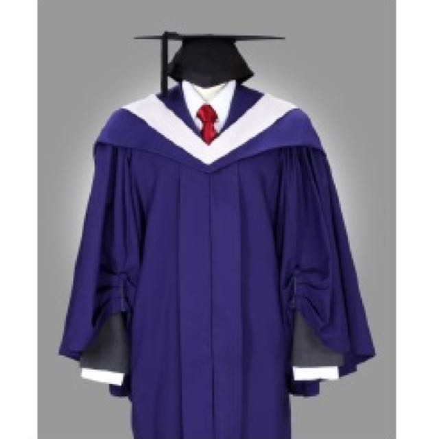 NUS Graduation Gown (SOLD) + Mortarboard, Books & Stationery ...