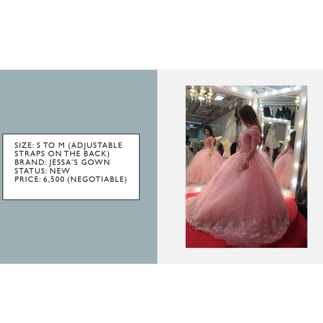 Old Rose Ball Gown with Lace Details, Preloved Women\'s Fashion ...
