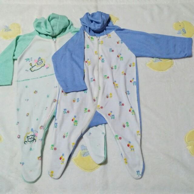 Overall sleepwear with hood
