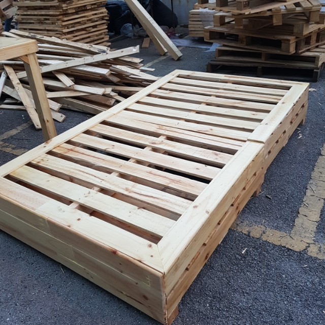 Pallet Single Bed Home Furniture On Carousell