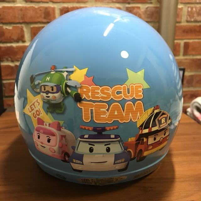 衝評價🚩全新兒童&小童波力POLI半罩(3/4罩)安全帽-送鏡片