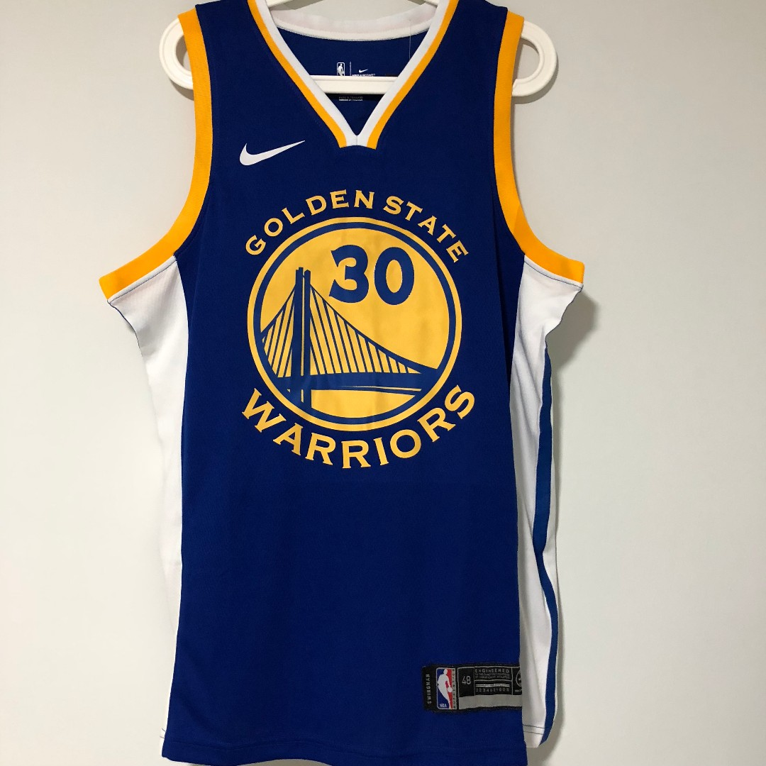 7ec294b3b8e M) Golden State Warriors  30 Stephen Curry 2017-18 Season Jersey ...