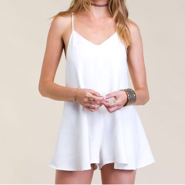 Princess Polly White Playsuit Romper