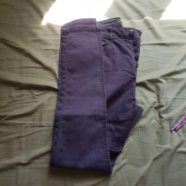 pull&bear purple denim jeans