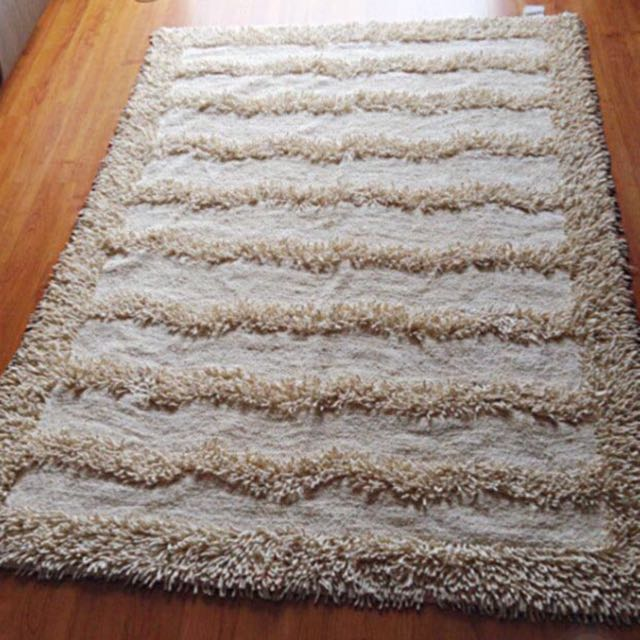 Pure cotton shaggy rug carpet