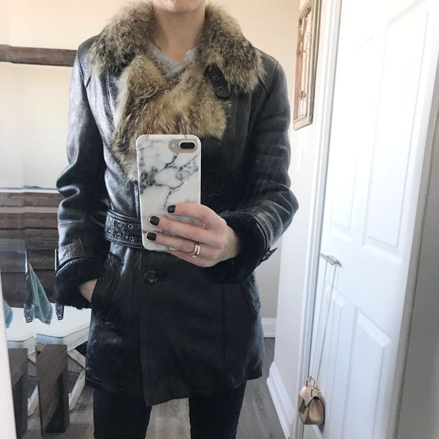 Real Fur Shearling Coat
