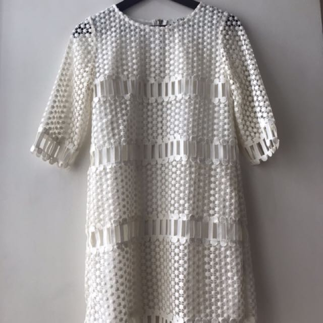 Reposting for firdt buyer.  excellent condition Chloe overrun lace dress - small
