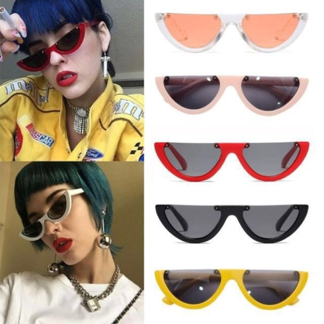 Retro Half Frame Sunglasses