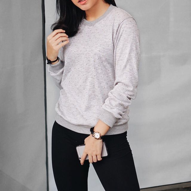 SALE Grey Sweatshirt