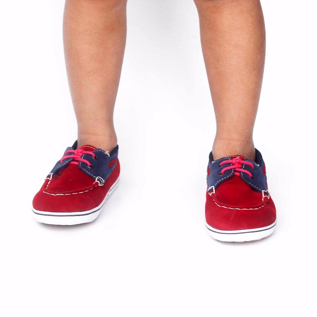 Sepatu Vans Anak Kasual Merah