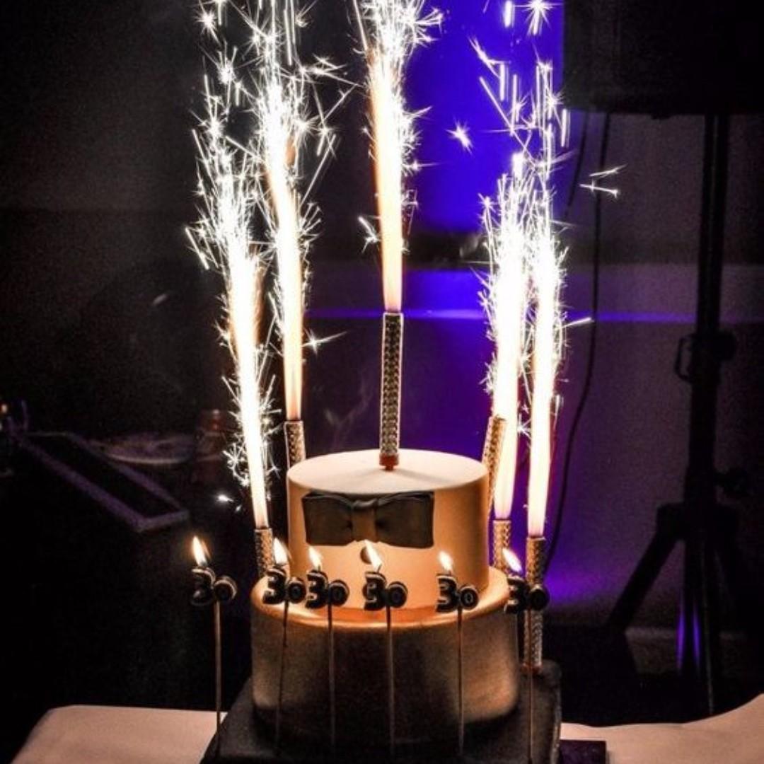 Sparkling Candles 6 pcs Pack – 20cm (L)