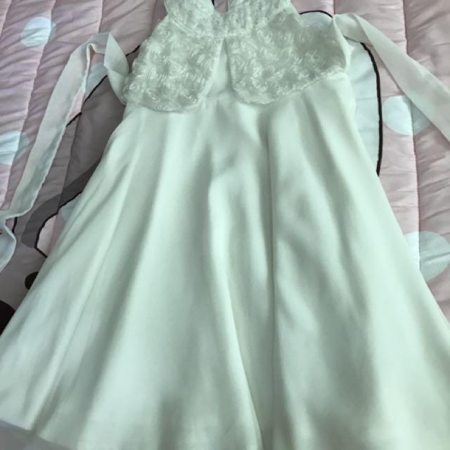 White Lace Dress For 2-4yo