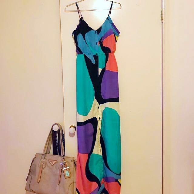 Woman by Peter Morrissey| Print Maxi Dress - 8
