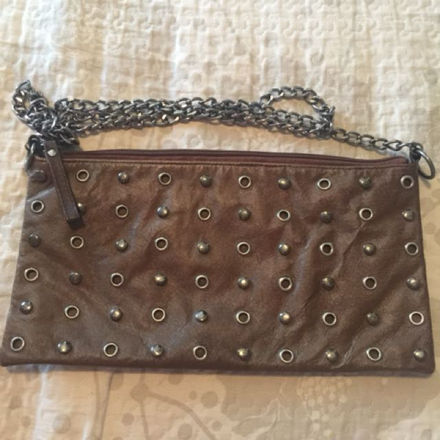 Women's Leather Studded Bag