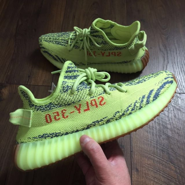 Yeezy v2 350 sneakers - semi-frozen yellow