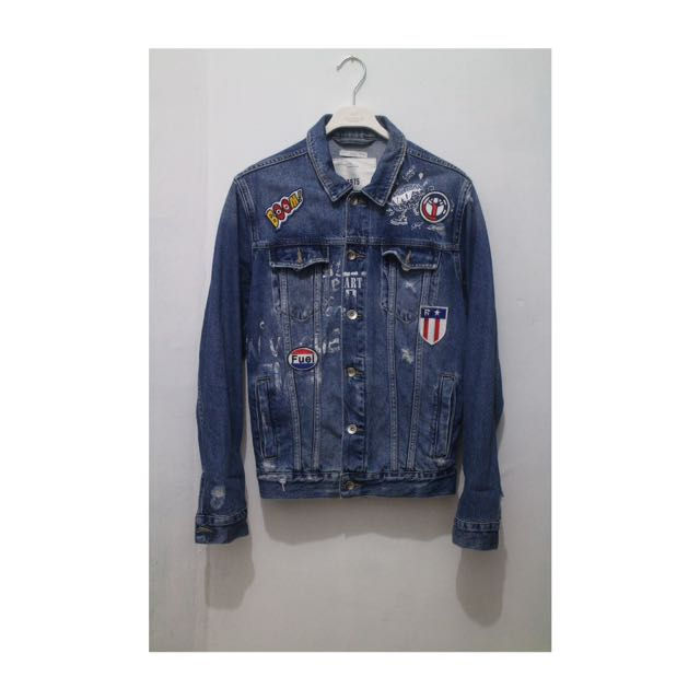 5d3ebbeb Zara Patch Denim Jacket, Women's Fashion, Women's Clothes on Carousell
