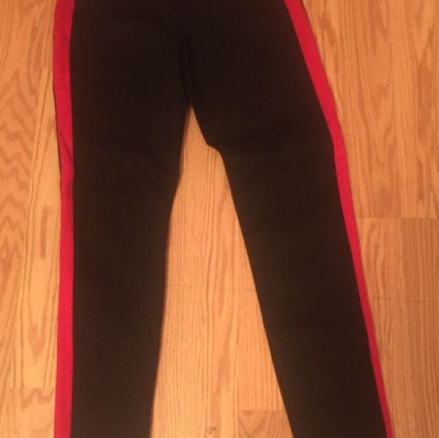 Zara Red Striped Tights
