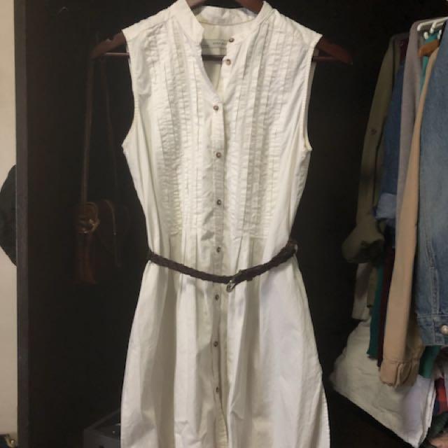 Zara White casual dress