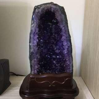 🏅高品項 巴西紫晶洞12.35kg 方解石 深艷紫 紫晶鎮紫晶片紫晶礦