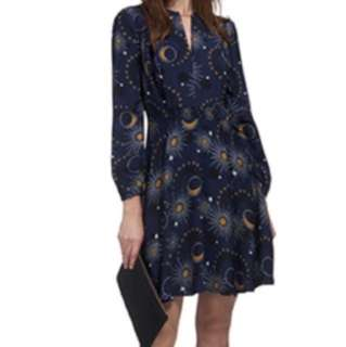 Whistles Onyx Galaxy Dress