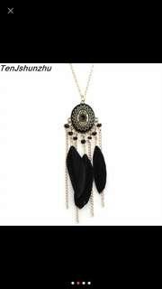 Necklace chicory bulu Black