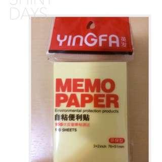 Paper memo sticker