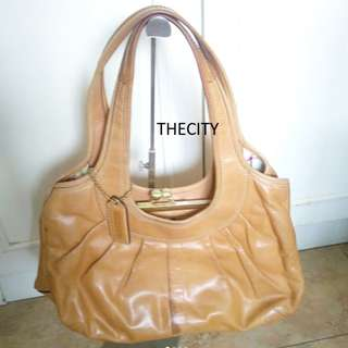 AUTHENTIC COACH LARGE LEATHER SHOULDER TOTE BAG