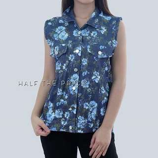 Floral Denim Polo by HTP