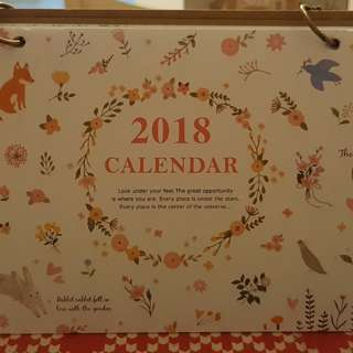 Ring Calendar 2018 (friends in the forest theme🏕)